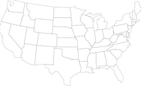 Map Usa United States America PNG Image - Picpng