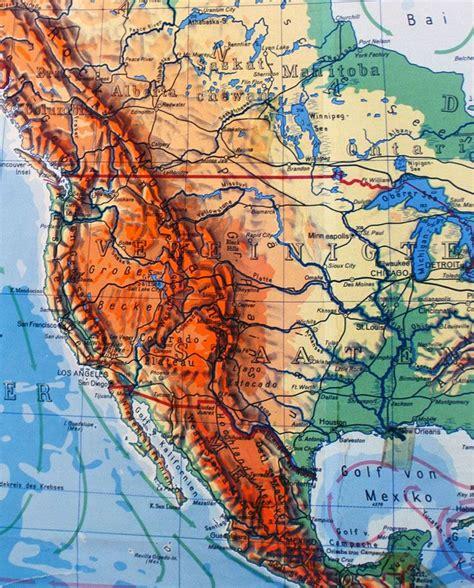 Mapa América Norte y Sur Físico - Almacén Alquián Hóptimo
