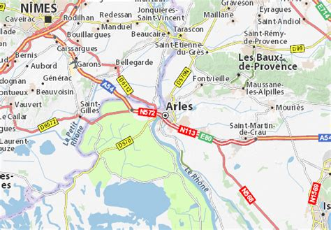 Mapa Arles - plano Arles - ViaMichelin
