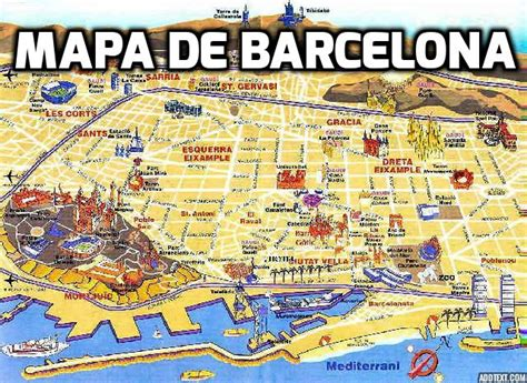 Mapa Barcelona | threeblindants.com