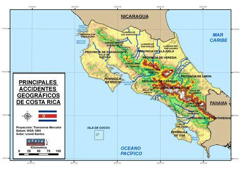 Mapa Cartografico De Costa Rica