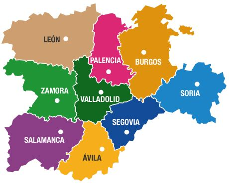 Mapa Castilla Y Leon   threeblindants.com