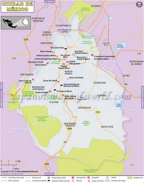 Mapa Ciudad de Mexico, Capital de Mexico