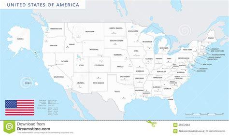 Mapa Coloreado De Estados Unidos Con Nombres Y Capitales ...