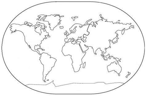 Mapa con los cinco continentes para colorear   Imagui