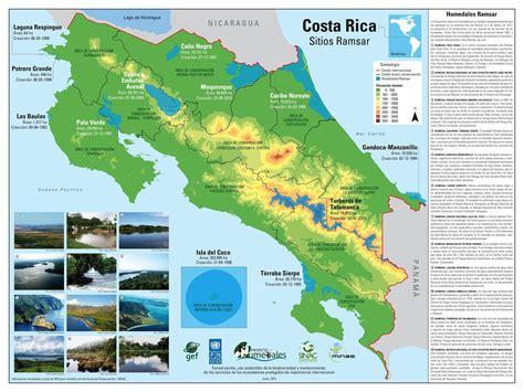 Mapa Con Los Principales Rios De Costa Rica   Deepthroaters
