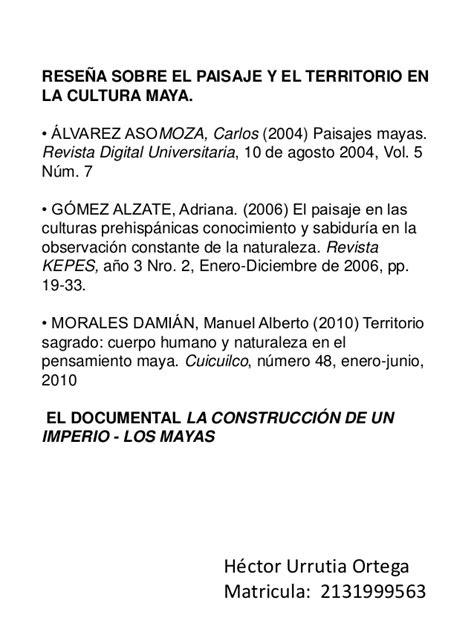 Mapa Conceptual de la Cultura Maya