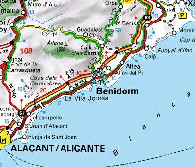 Mapa de acceso a Benidorm