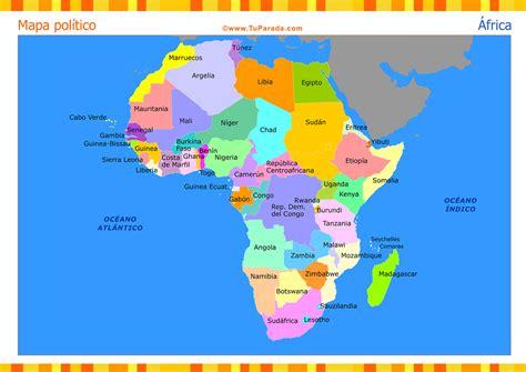 Mapa de África con división política - Mapas, tarjetas