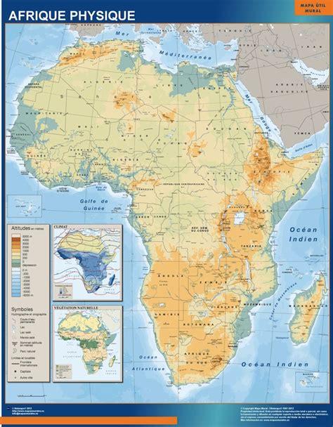 Mapa de Africa Fisico | Tienda Mapas