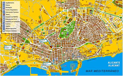 Mapa de Alicante - Tamaño completo