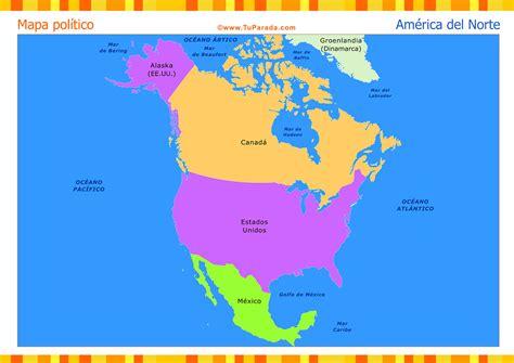Mapa de América del Norte político - Mapas, tarjetas