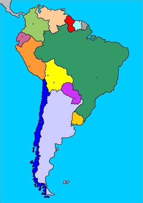 Mapa de América del Sur (Sudamérica): países y capitales ...