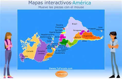 Mapa de América Interactivo.. Mapas, ver tarjetas postales ...
