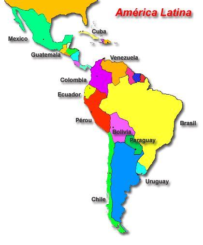 Mapa de América Latina con todos sus Paises