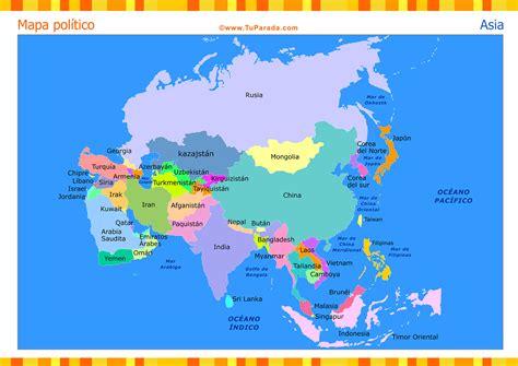Mapa de Asia con división política - Mapas, tarjetas
