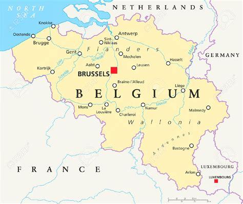 Mapa de Belgica - Mapa Físico, Geográfico, Político ...