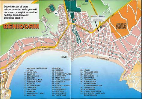 Mapa de Benidorm   Tamaño completo