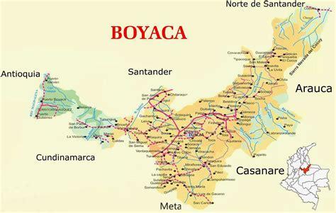 Mapa de Boyaca - Mapa Físico, Geográfico, Político ...