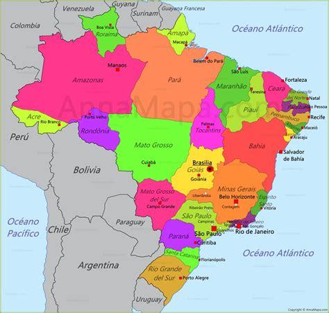 Mapa de Brasil - AnnaMapa.com