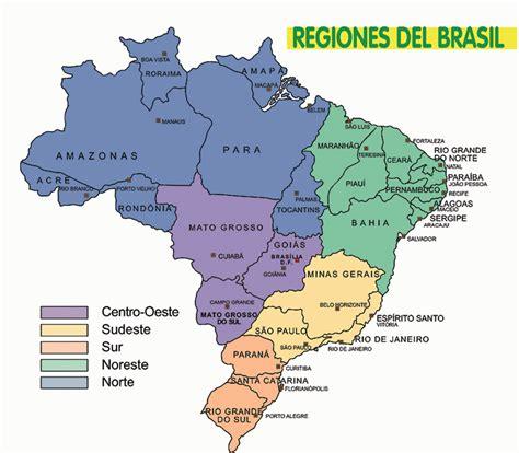 Mapa de Brasil - Turismo Brasil