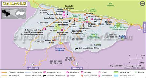 Mapa de Caracas | Capital de Venezuela   Ciudad Caracas