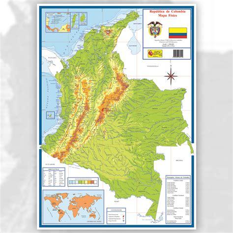 Mapa de Colombia con sus límites - Mapa Físico, Geográfico ...