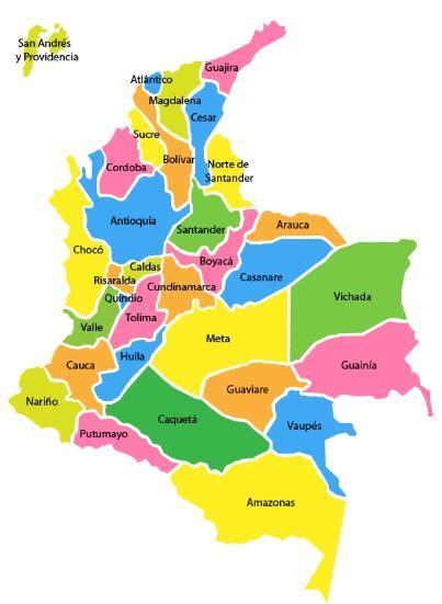 MAPA DE COLOMBIA (DIVISIÓN POLÍTICA DE COLOMBIA) | Mapas ...