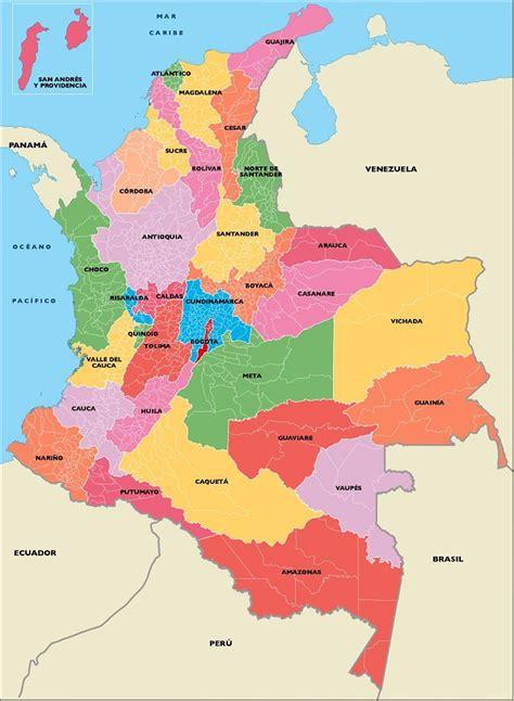 Mapa de Colombia: División política y administrativa ...