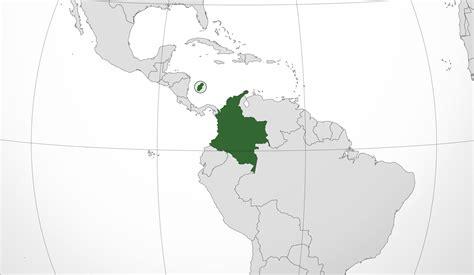 Mapa de Colombia, donde está, queda, país, encuentra ...