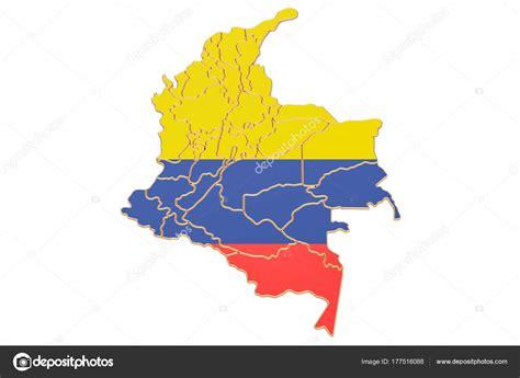 Mapa de Colombia, render 3d — Foto de stock © alexlmx ...