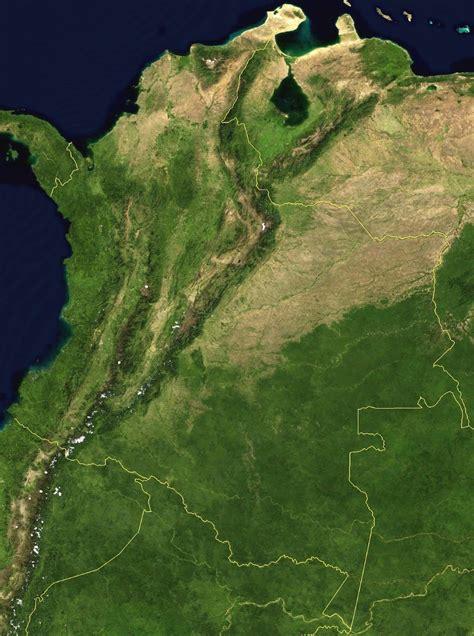 Mapa de Colombia satelital - Mapa de Colombia