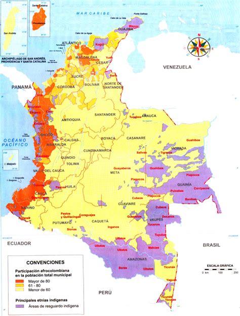 Mapa de Colombia: Ubicación de las comunidades indígenas y ...