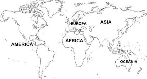 Mapa de continentes 】» Con Nombres | Mudo | En blanco ...