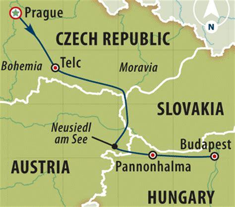 Mapa de distancia Praga Budapest