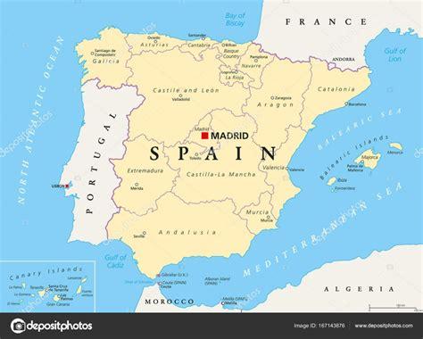 Mapa de división política y administrativa de España ...