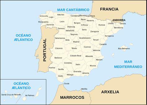 Mapa De Espana Con Las Provincias - barrakuda.info