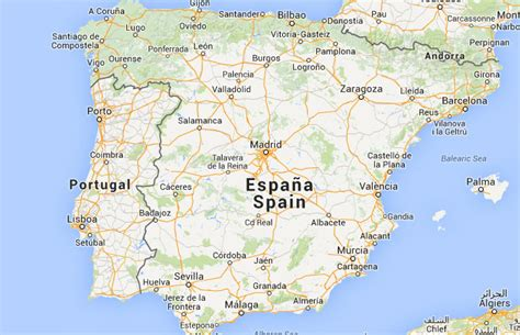 Mapa de España, donde está, queda, país, encuentra ...