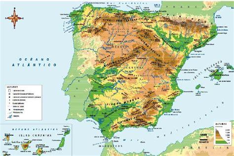 MAPA DE ESPAÑA, FISICO Y POLITICO PUEBLOS