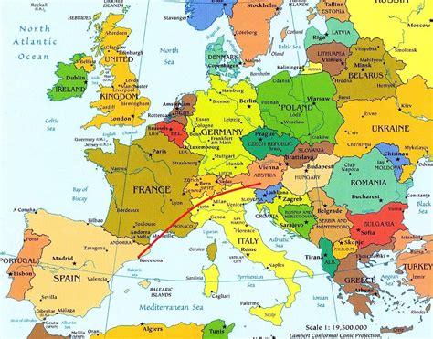 Mapa De España Francia E Italia