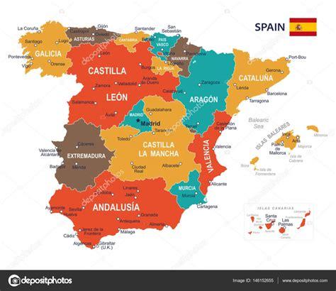 Mapa de España - ilustración — Vector de stock ...