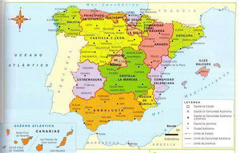 Mapa de España: Mapa político de españa grande