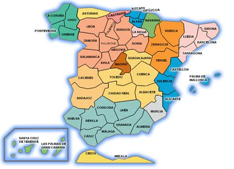 Mapa De Espàña