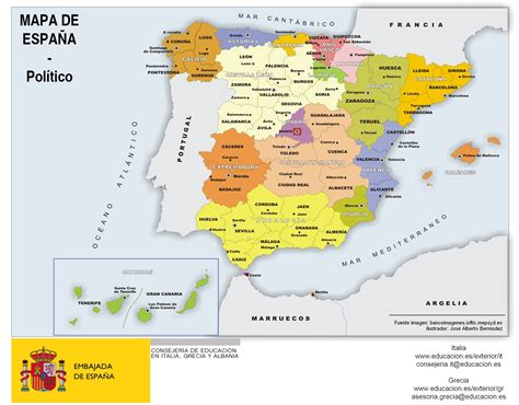 Mapa de España (por comunidades y provincias) #infografia ...