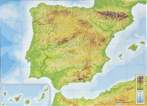 Mapa de España ⊛ Político Físico Mudo Con Nombres » Para ...
