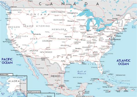 Mapa de Estados Unidos con Nombres, Capitales, Estados ...