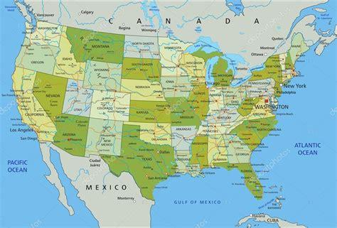 mapa de Estados Unidos de América — Vector de stock ...