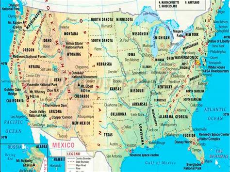 Mapa de Estados Unidos | Descarga los mapas de Estados Unidos