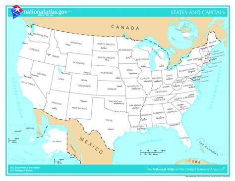 Mapa de Estados Unidos   TurismoEEUU