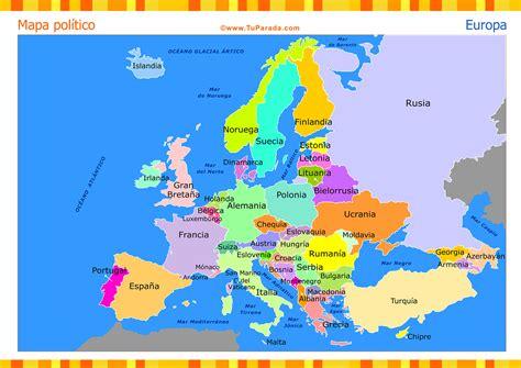 Mapa de Europa con división política - Mapas, tarjetas